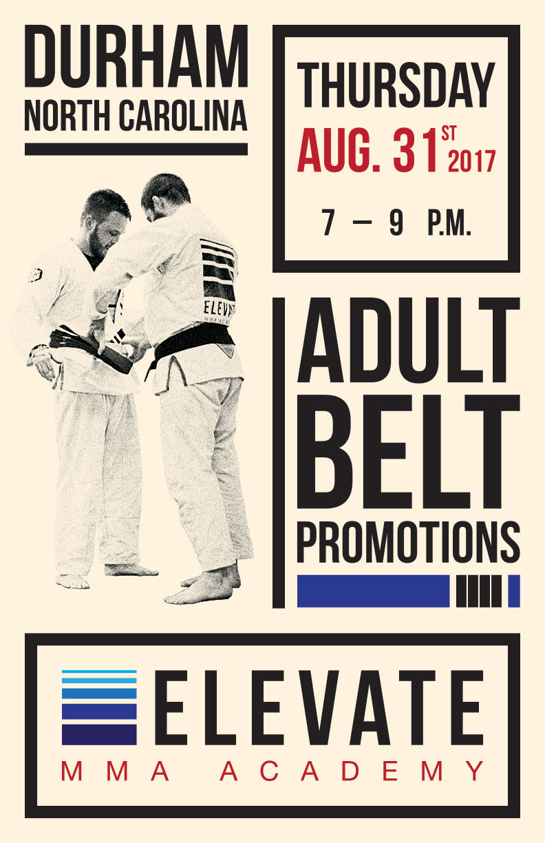 Elevate MMA Academy Belt Promotions